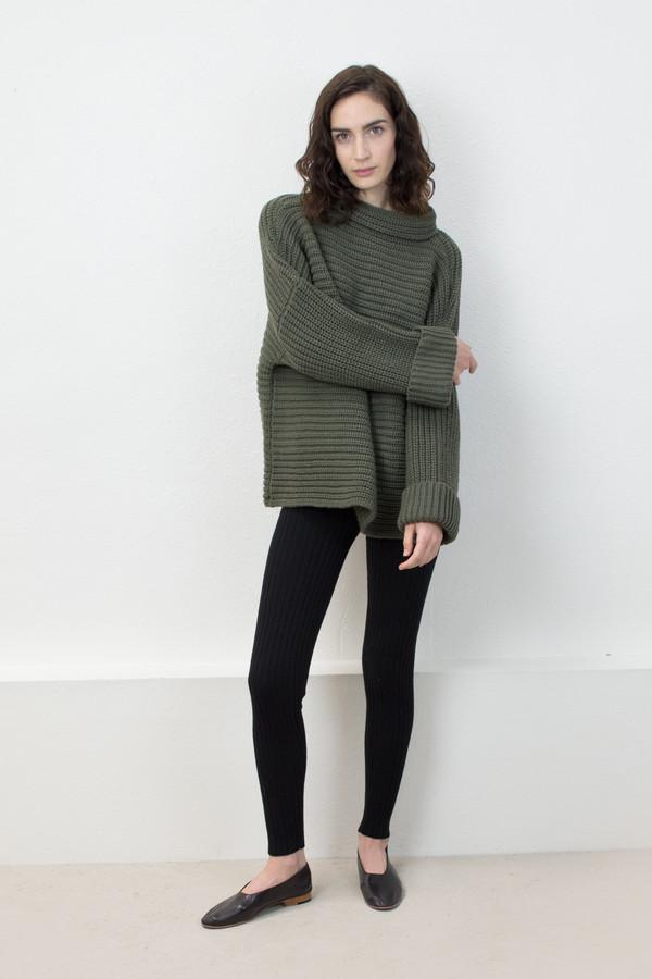 Micaela Greg Olive Parallel Pullover