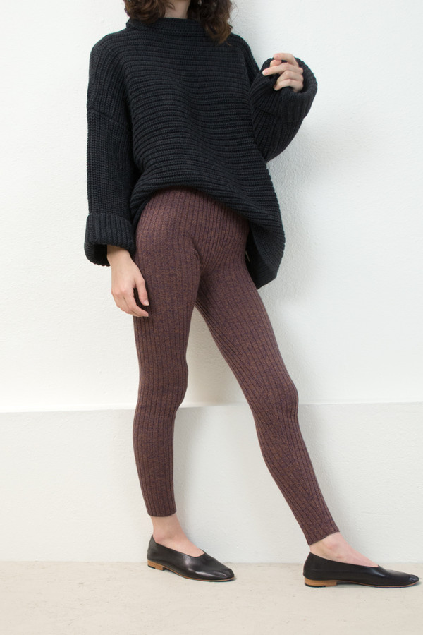 Micaela Greg Speckle Rust Rib Legging