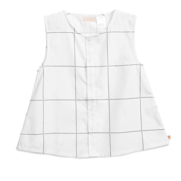 Tiny Cottons Tartan Woven Blouse White Tartan
