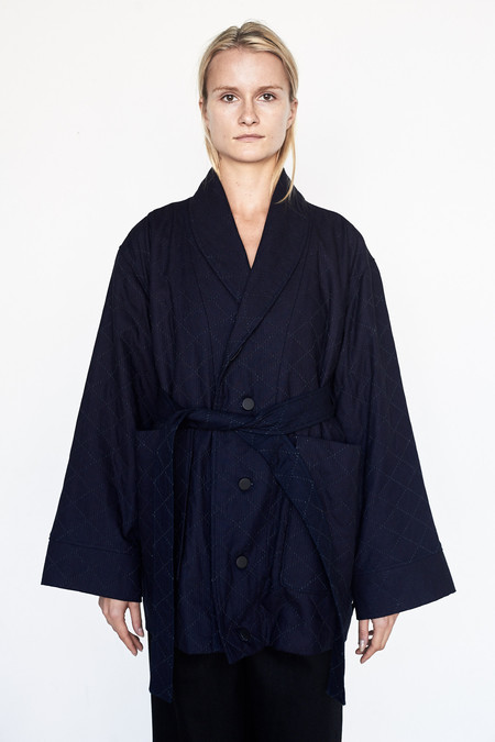 Assembly New York Cotton Cropped Robe Coat