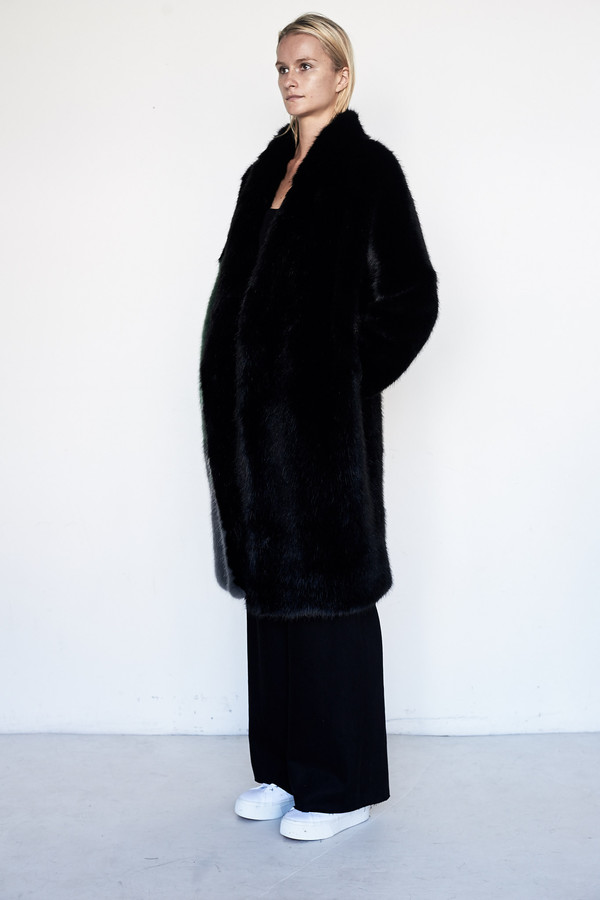D.EFECT Faux Fur Cassandra Coat