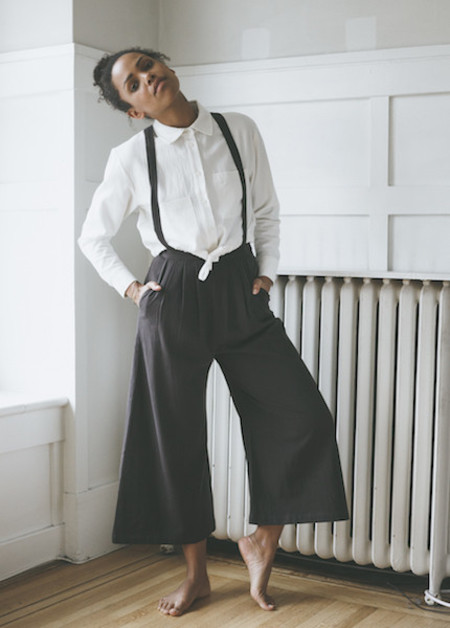 First Rite Suspender Culotte - Charcoal