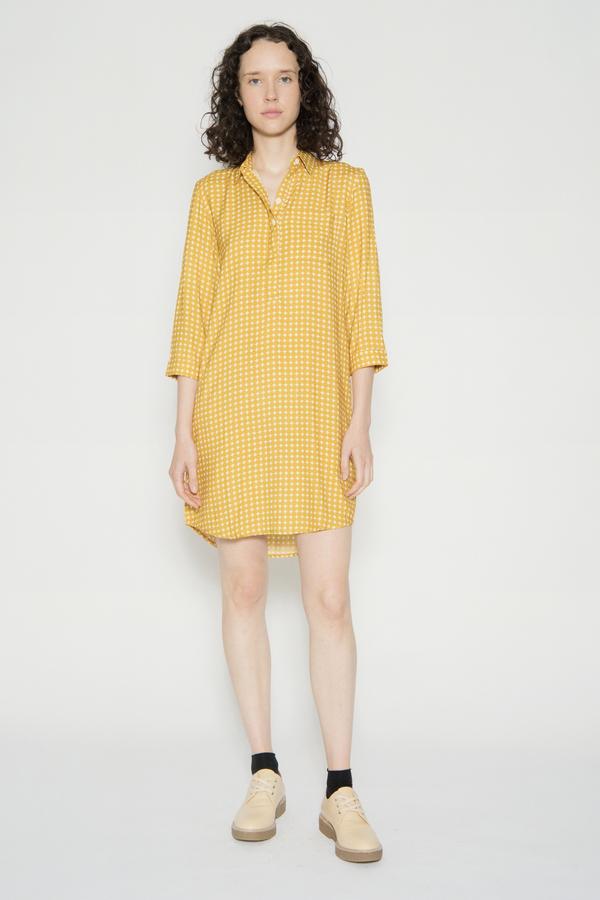 WRAY Painter Dress Yellow Dot