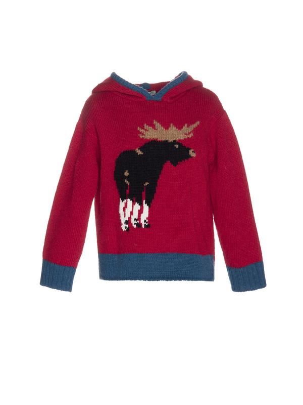 Nanos Moose Hooded Sweater - CouCou Boston