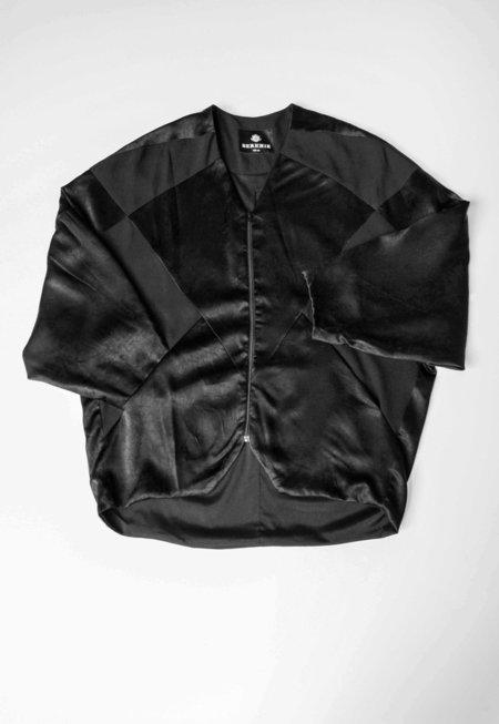 Berenik Jumper-Patchwork Black Shiny/Matt