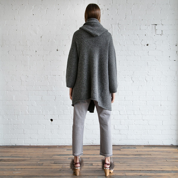 Lauren Manoogian  Capote Coat Charcoal - SOLD OUT