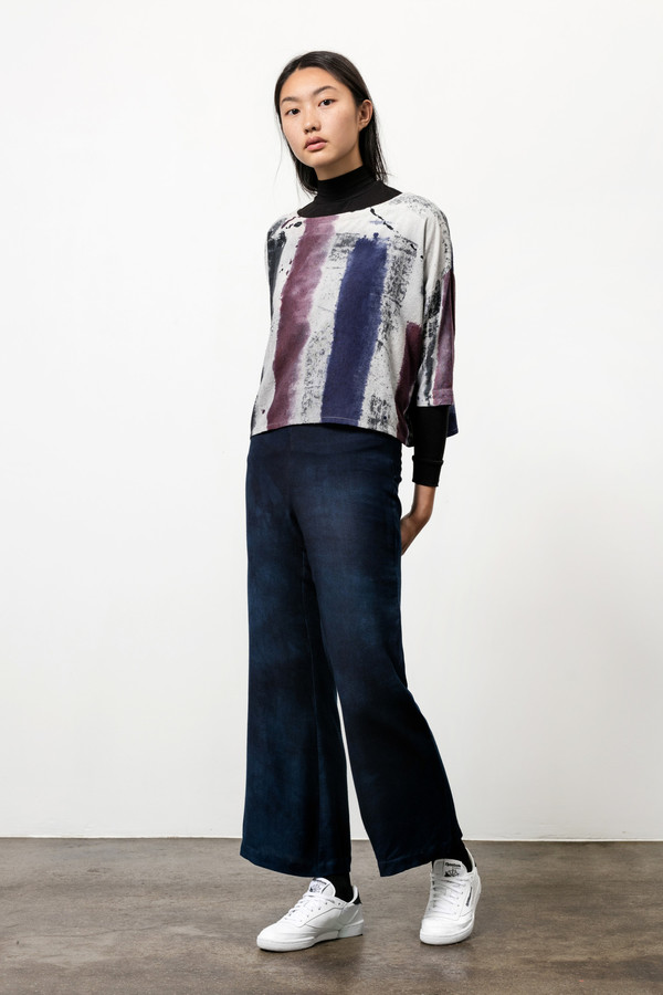Osei-Duro Box Top in Mauve Brushstrokes