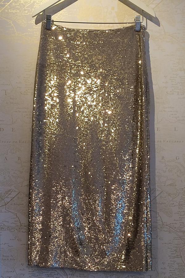 Sequin Bump Skirt