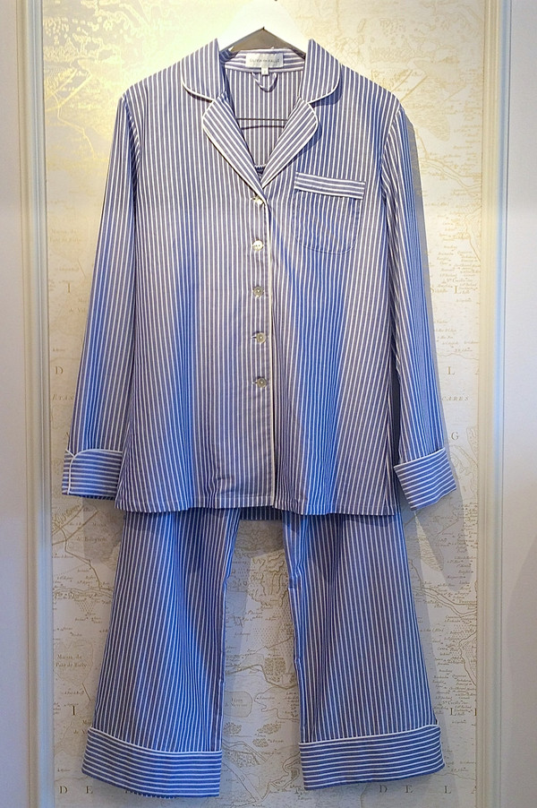 Olivia Von Halle Stripe Cotton Pyjama Set