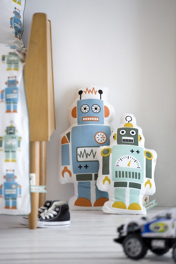 Kid's Ferm Living MR. ROBOT PILLOW - LARGE