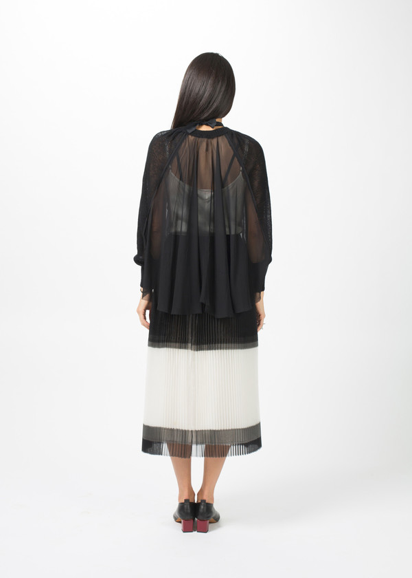 Louiza Babouryan Cashmere Sleeve Cape Top