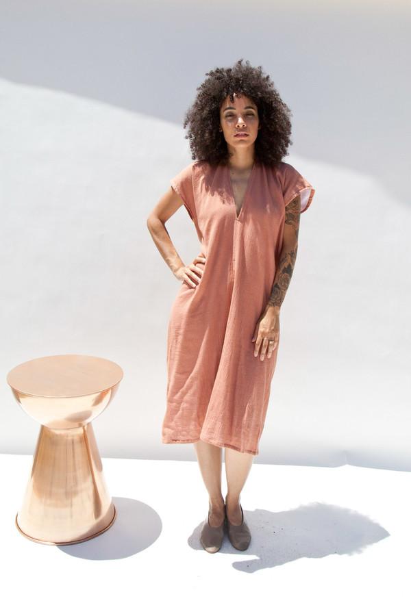 Miranda Bennett In-Stock: Everyday Dress, Lined Cotton Gauze in Noon