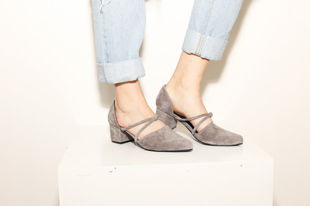 Intentionally Blank DRAFT Grey Suede