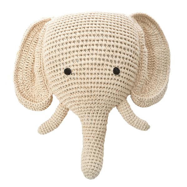Anne-Claire Petit Elephant Cream-Ivory Trophy Head - Dodo Les Bobos