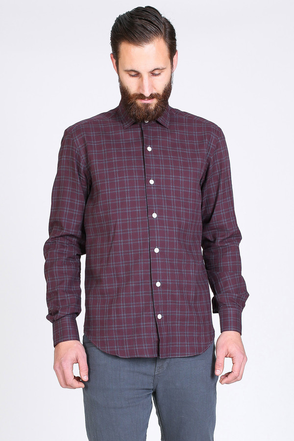 Men's Culturata Girolamo Shirt in Claret