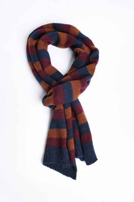 Men's Oliver Spencer Ola scarf in Caramel Multi