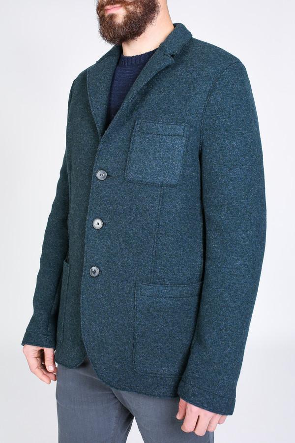 Men's Harris Wharf London Three Button Jacket in Teal