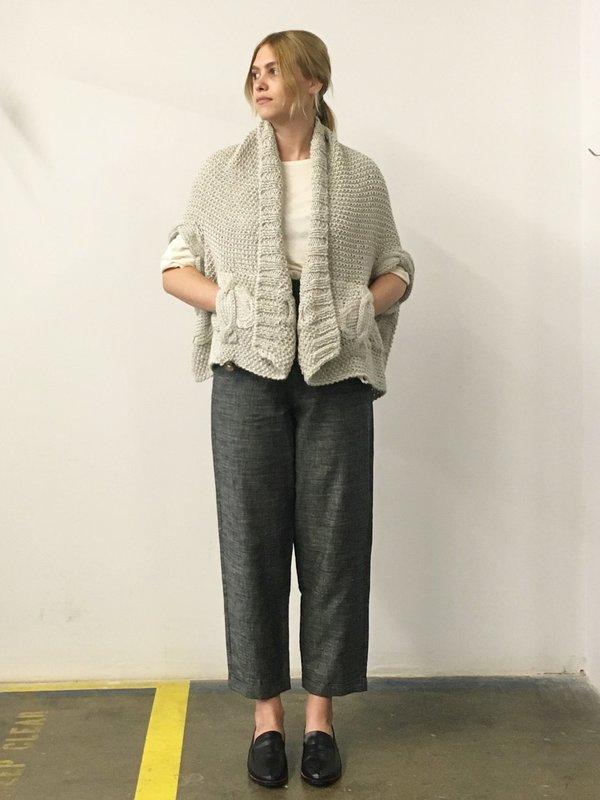Study NY Hand Knit Vest - Navy Alpaca