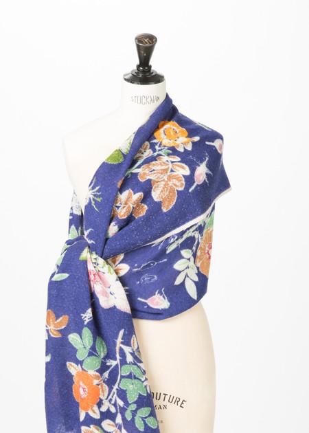 Epice Wool Floral Print Shawl
