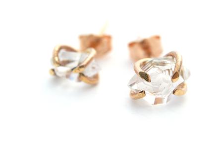 Silversheep Jewelry Herkimer Diamond Studs