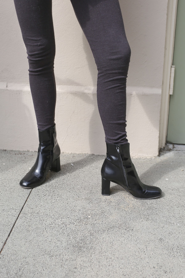Maryam Nassir Zadeh Agnes Boot in Black Shine
