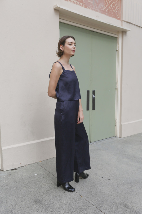 Nikki Chasin Suso Jumpsuit in Navy