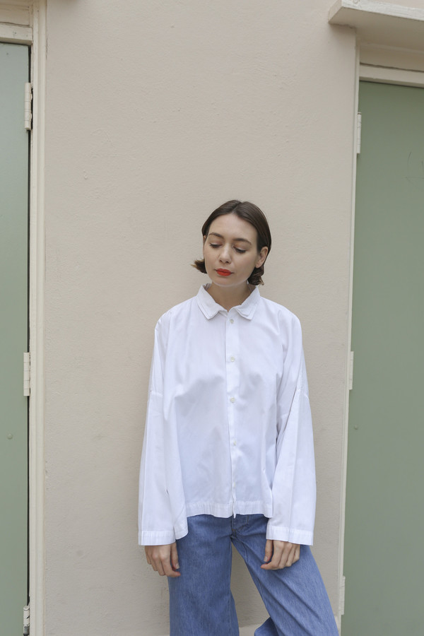 NONNA Vintage Eskandar Double Collar Wide Button Down