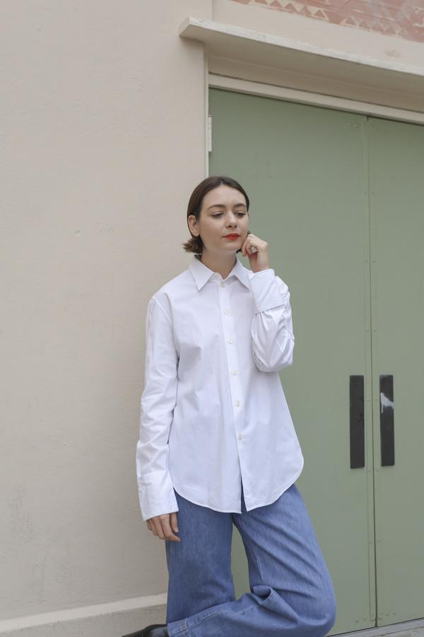 NONNA Vintage Helmut Lang Crisp White Button Down