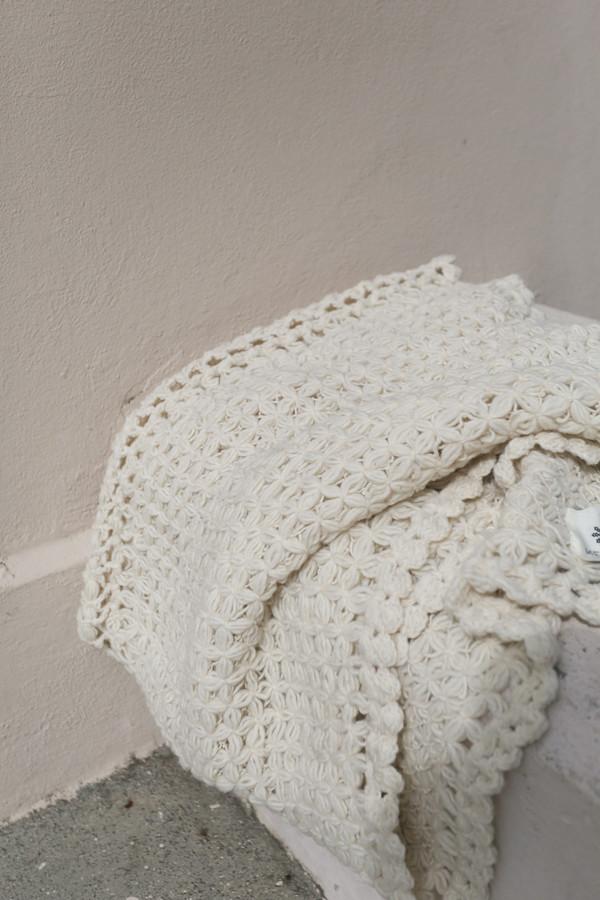 Mexchic Merengue Blanket in Cream