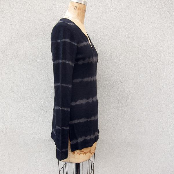 Tie-dye pullover sweater - black