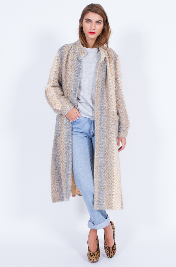 Yo Vintage! PASTEL KNIT COATIGAN (MEDIUM)