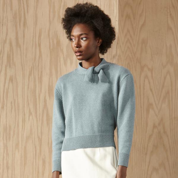 Nikki Chasin Sylvie Tie Neck Sweater