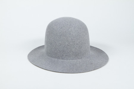 Clyde Short Brim Dome Hat in Heather Grey Wool