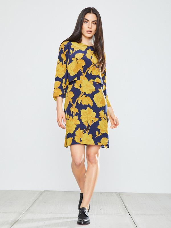 WHiT Chelsea Dress in Rose Print