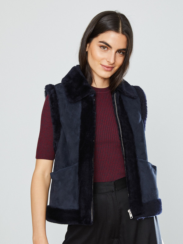 Ganni Scott Shearling Jacket