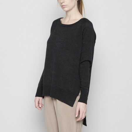 7115 by Szeki Exposed Seams Sweater - Charcoal FW16
