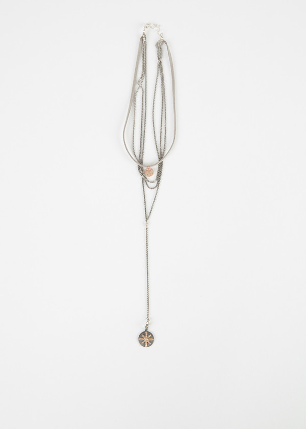 Jewels by Piper Rose Gold Flower Pendant Necklace