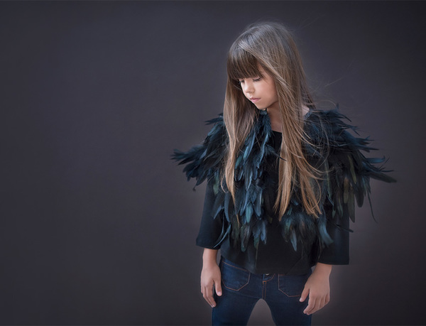 Andorine Feather Cape
