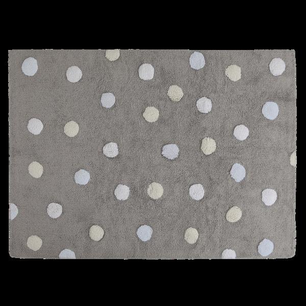 Lorena Canals Polka Dots Tricolor Grey - Blue