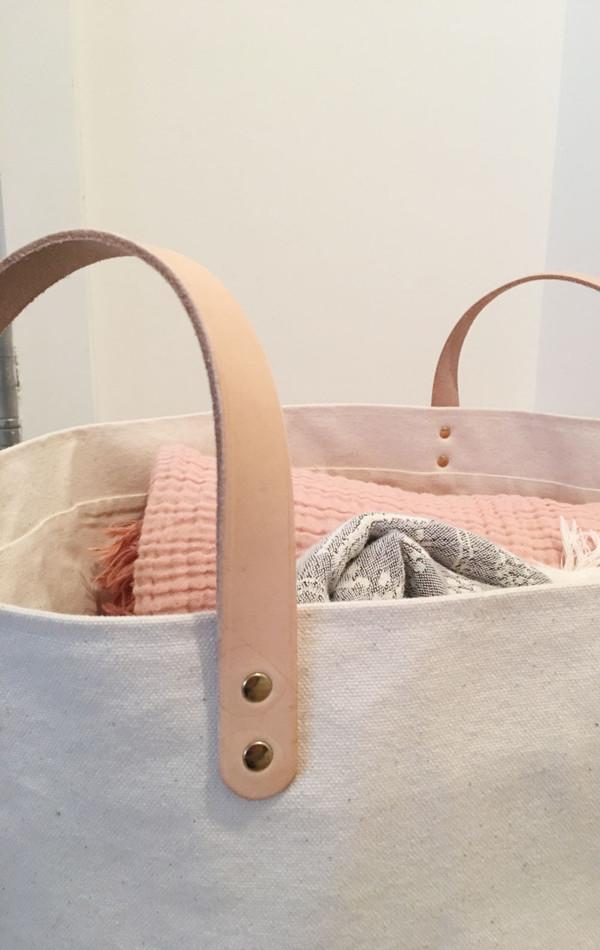 Two New York Minimalist bucket basket