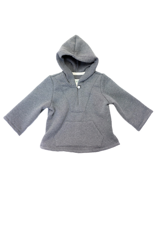 Kid's Boy+Girl Fleece Baja Poncho - Charcoal