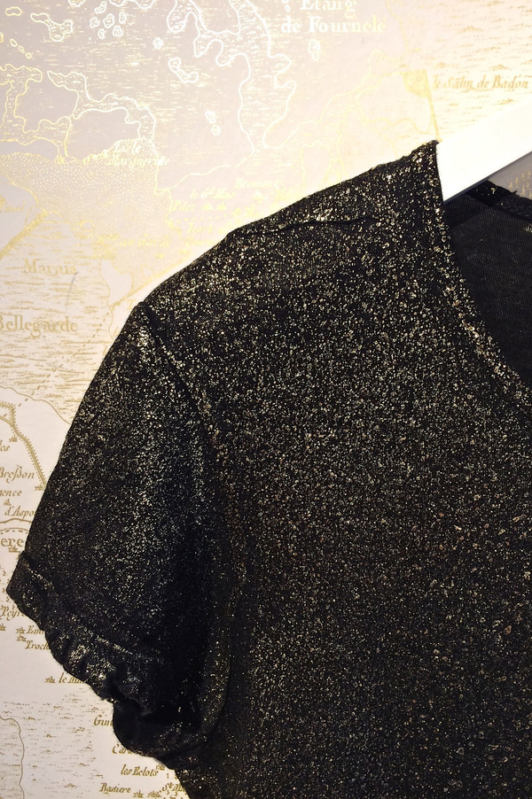 RtA 'Nicola' Gold Splatter Distressed Tee