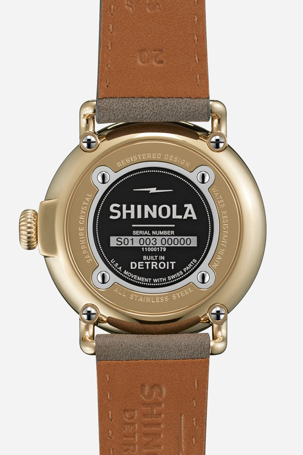 Shinola The Runwell 41mm in White & heather grey