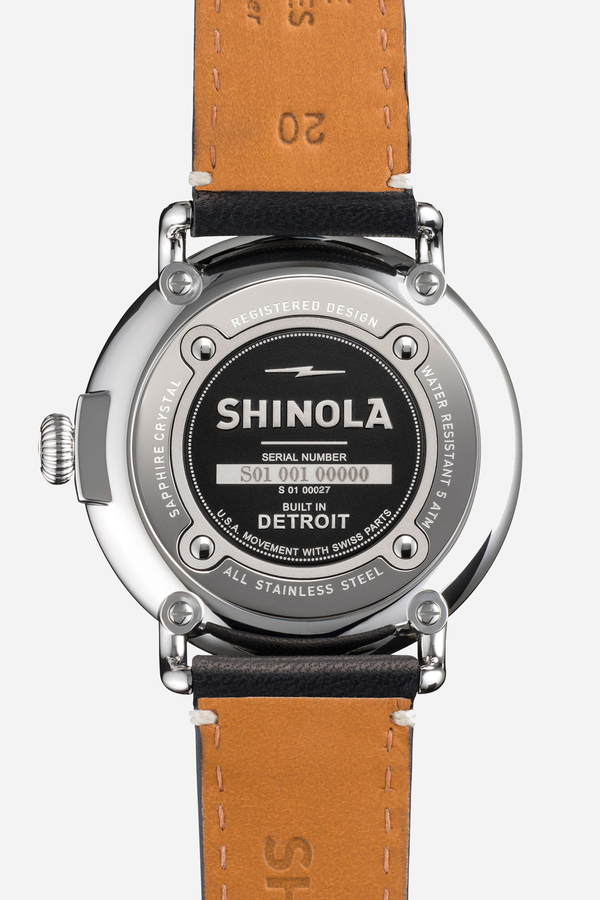 Shinola The Runwell 41mm in blue & black