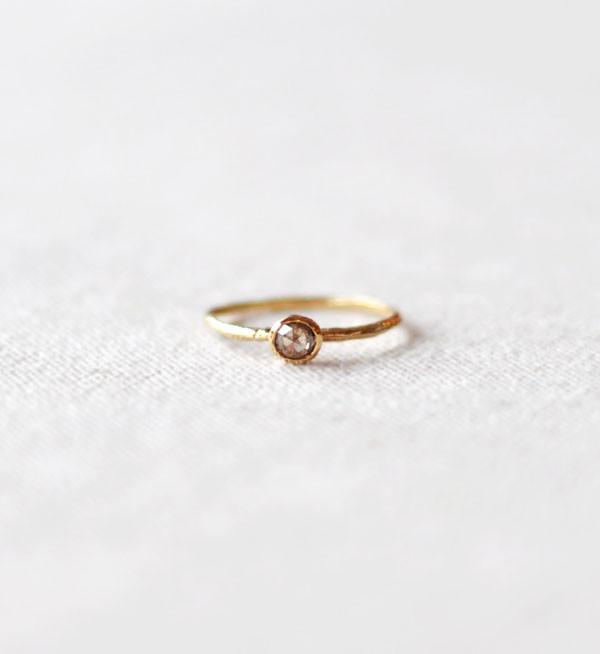 Satomi Kawakita Rose Cut Solitaire Ring