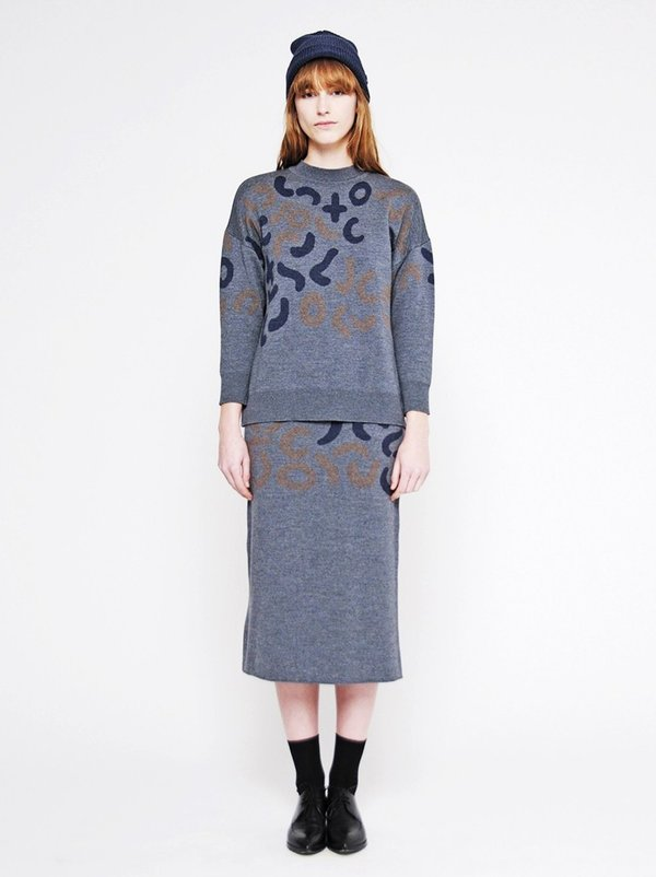 Diarte Riven Sweater Dark Grey