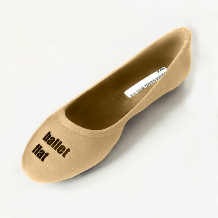 Slow and Steady Wins the Race Ballet Flat in Khaki