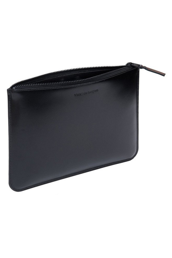 Men's Comme des Garçons Leather SA-5100VB Lg Zip Pouch - Very Black