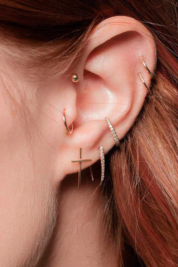 Gabriela Artigas Compass Earrings 14K Yellow Gold