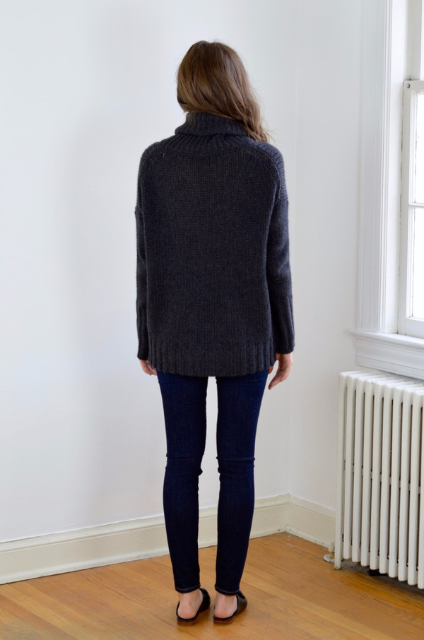 360 Cashmere Rhea Sweater Charcoal